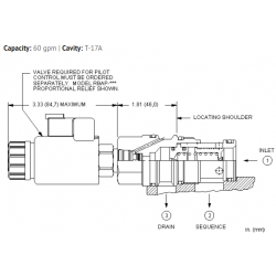 RSHC8WN Pilot operated, balanced piston sequence main stage with integral T-8A control cavity