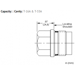 XIOAXXN All ports open cavity plug