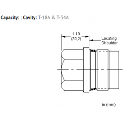XKOAXXN All ports open cavity plug