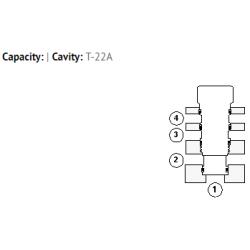 XNCAXXN All ports blocked cavity plug