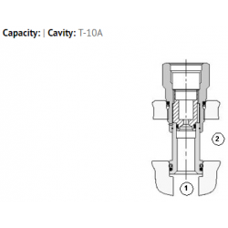 XFAA8XN T-10A cavity to T-8A cavity converter