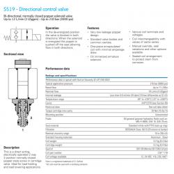 S519 - Directional control valve