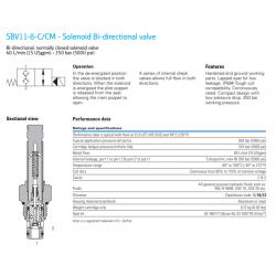 SBV11-8-C/CM - Solenoid Bi-directional valve