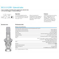 SV13-12-C/CM - Solenoid valve