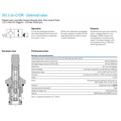SV13-16-C/CM - Solenoid valve