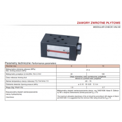 Modular check valve HPZ1S