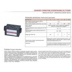Modular pilot - operated check valve HPZ2S