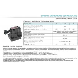 Pressure sequence valve HPYS