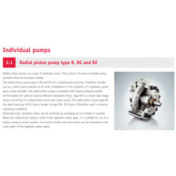Radial piston pump type R, RG and RZ