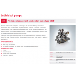 Variable displacement axial piston pump type V30D