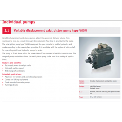 Variable displacement axial piston pump type V60N