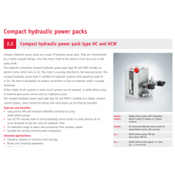 Compact hydraulic power pack type HC and HCW
