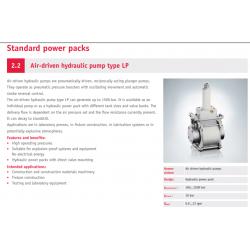 Air-driven hydraulic pump type LP