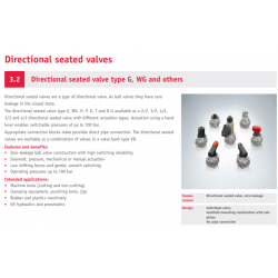 Directional seated valve type G, WG and others