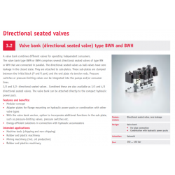 Valve bank directional seated valve type BWN and BWH