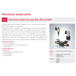 Directional seated valve type BVG, BVP and NBVP