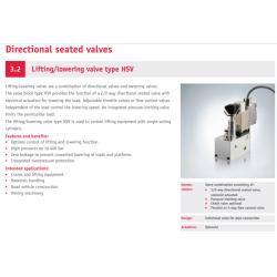 Lifting/lowering valve type HSV