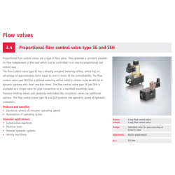 Proportional flow control valve type SE and SEH