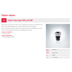 Check valve type CRK and CRB