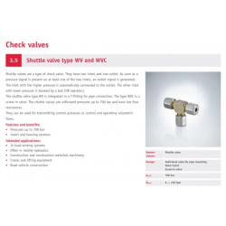 Shuttle valve type WV and WVC