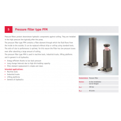 Pressure filter type PFM