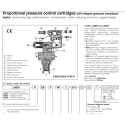 Proportional pressure control cartrdiges with integral pressure transducer LICZO-R