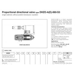 Proportional directional valve type DHZO-A(E)-060-S3 DHZO-A-060