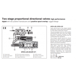 Two stage proportional directional valves high performance DPZO-L