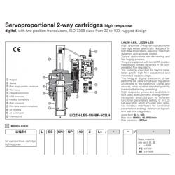 Servoproportional 2-way cartridges high response LIQZH-L