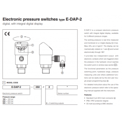 Electronic pressure switches type E-DAP-2