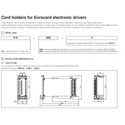 Card holders for Eurocard electronic drivers E-ME-AC