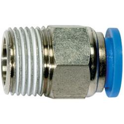 Złączka wtykowa prosta z gwintem zewnętrznym (teflon)