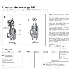 Pressure relief valves type  ARE AGAM