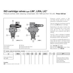 ISO cartridge valves type LIM*, LIRA, LIC
