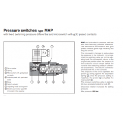 Pressure switches type MAP