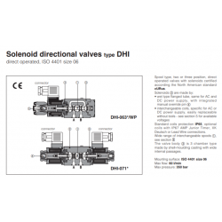 Solenoid directional valves type DHI