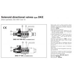 Solenoid directional valves type DKE