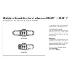 Modular solenoid directional valves type HD-0611*, HD-0711* HD
