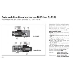 Solenoid directional valves type DLEH, DLEHM