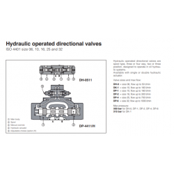 Hydraulic operated directional valves DH, DK, DP Pneumatic