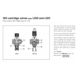 ISO cartridge valves type LIDD and LIQV LIQV, LIDD