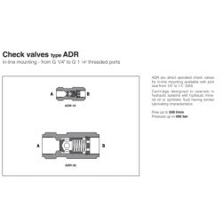 Check valves type ADR