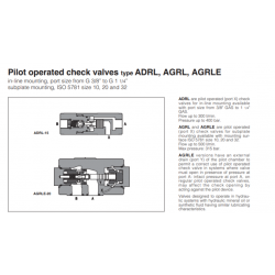 Pilot operated check valves type ADRL, AGRL, AGRLE