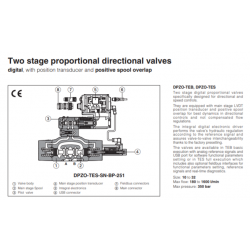 Two stage proportional directional valves DPZO-TES