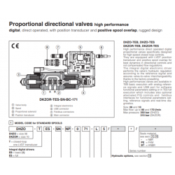 Proportional directional valves high performance DHZO-TES, DKZOR-TES