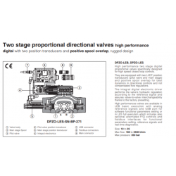 Two stage proportional directional valves high performance DPZO-LES
