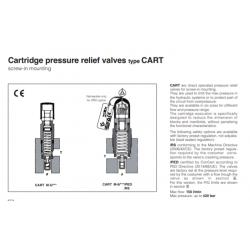 Cartridge peressure relief valves type CART