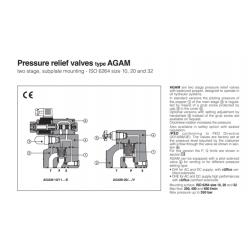 Peressure relief valves type AGAM
