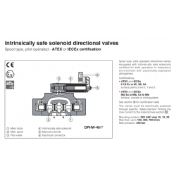 Intrinsically safe solenoid directional valves DPHW