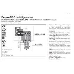 Ex-proof ISO cartridge valves LIDEW-AO,LIDBH-AO